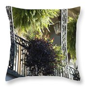 New Orleans Afternoon Light Throw Pillow