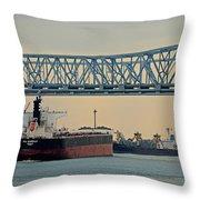New Orleans Bridge Throw Pillow