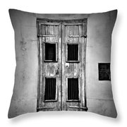 New Orleans Classic Doors Throw Pillow