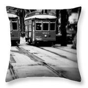 New Orleans Classic Streetcars. Throw Pillow