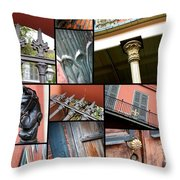 New Orleans Collage 1 Throw Pillow