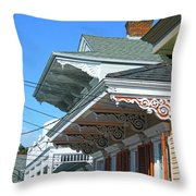 New Orleans Home Uptown Throw Pillow