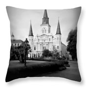 New Orleans Landmark Throw Pillow