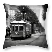 New Orleans Streetcar 2 Throw Pillow
