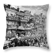 New Orleans Streetscene Throw Pillow