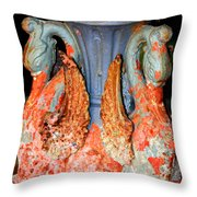 New Orleans Swan Fountain Throw Pillow