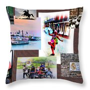 New Orleans The Birthplace Of Jazz Throw Pillow