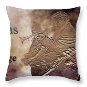 New Orleans The Jazz Age Throw Pillow