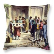 New Orleans: Voting, 1867 Throw Pillow
