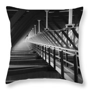 New River Gorge Bridge Catwalk Throw Pillow