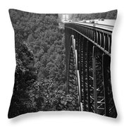 New River Gorge Bridge Fayetteville West Virginia Throw Pillow