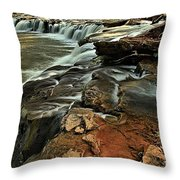 New River Waterfall Throw Pillow
