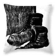 New Shoe Drop Off Throw Pillow