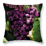 New Wine And Oil Throw Pillow