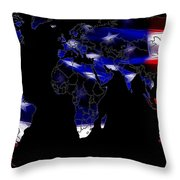 New World Map Throw Pillow