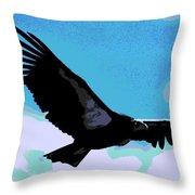 New World Vulture Throw Pillow