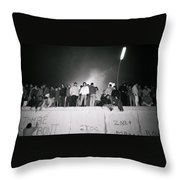 New Year At The Berlin Wall Throw Pillow