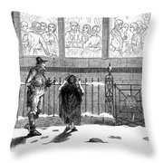 New Years Eve, 1859 Throw Pillow