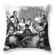 New Years Party, 1857 Throw Pillow