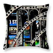 New York Abstract 1 Throw Pillow