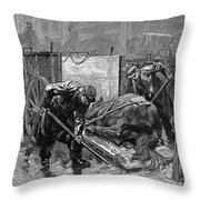 New York: Aspca, 1888 Throw Pillow