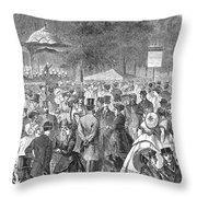 New York: Bandstand, 1869 Throw Pillow