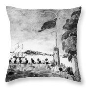 New York: Battery, 1793 Throw Pillow