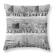 New York: Broadway, 1851 Throw Pillow
