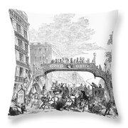 New York: Broadway, 1852 Throw Pillow