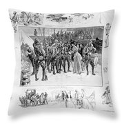 New York: Camp Wikoff, 1898 Throw Pillow