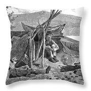 New York: Camping, 1874 Throw Pillow