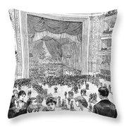 New York Charity Ball, 1884 Throw Pillow