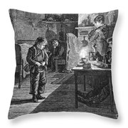 New York: Child Musician Throw Pillow