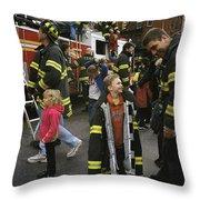 New York City Firefighters Host Throw Pillow