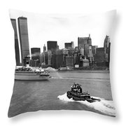 New York City Harbor Throw Pillow
