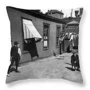 New York City: Marble Game Throw Pillow
