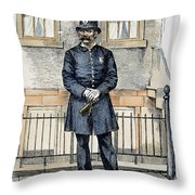New York City Policeman Throw Pillow