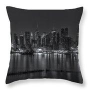 New York City Skyline Morning Twilight Xvi Throw Pillow