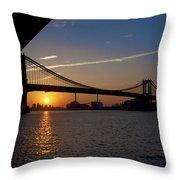 New York City Sunrise Throw Pillow