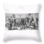 New York City: Winter Throw Pillow