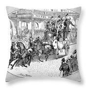 New York: Coaching, 1876 Throw Pillow