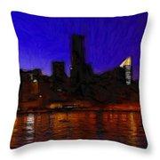 New York Colors Throw Pillow