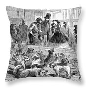 New York: Dog Pound, 1866 Throw Pillow
