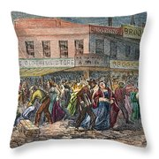 New York: Draft Riots 1863 Throw Pillow