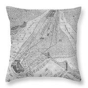 New York: El Train, C1878 Throw Pillow