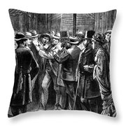 New York: Election, 1876 Throw Pillow