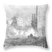 New York: Fire, 1853 Throw Pillow