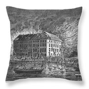 New York: Fire Of 1835 Throw Pillow