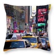 New York Gridlock Throw Pillow