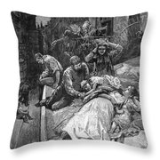 New York: Heat Wave, 1883 Throw Pillow
